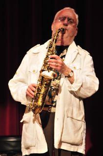 Lee Konitz Playing Saxophone